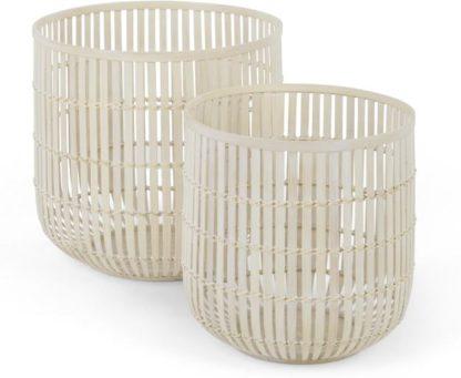 An Image of Kurino Set of 2 Bamboo Storage Baskets, Natural