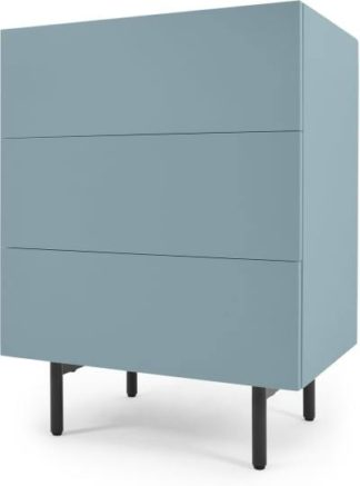 An Image of MADE Essentials Mino Chest Of Drawers, Teal & Oak