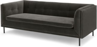 An Image of Farley Large 2 Seater Sofa, Concrete Cotton Velvet