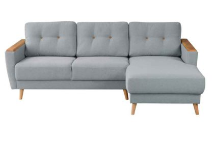 An Image of Expo Right hand Corner Sofa Malaga Steel
