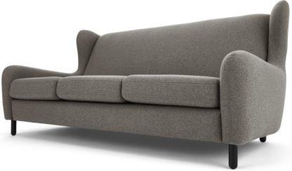 An Image of Rubens 3 Seater Sofa, Nickel Grey