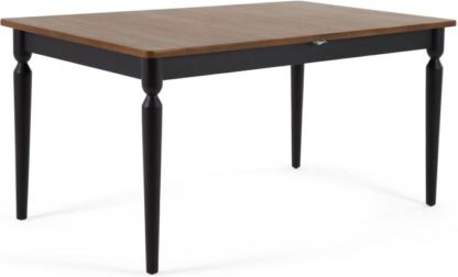 An Image of Pherson 8-12 Seat Double Extending Dining Table, Walnut and Black