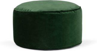 An Image of Lux Velvet Floor Cushion, Forest Green Velvet