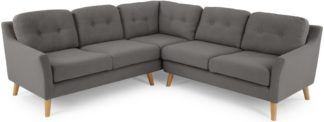 An Image of Rufus Corner Sofa, Rhino Grey