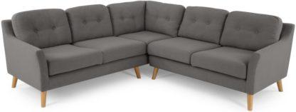 An Image of Rufus Corner Sofa, Rhino Grey