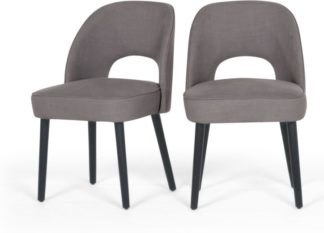 An Image of Set of 2 Rory Dining Chairs, Graphite Grey