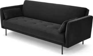 An Image of Harlow Click Clack Sofa Bed, Midnight Grey Velvet