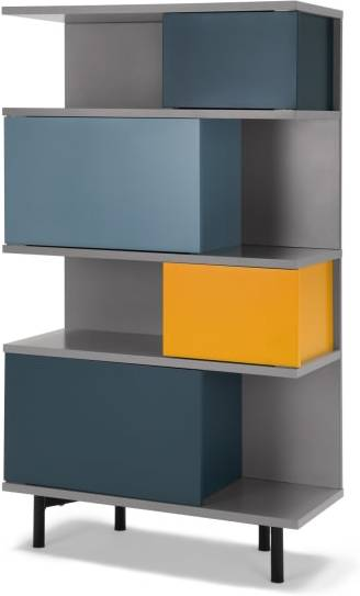 An Image of Fowler Tall Shelving Unit, Multicolour