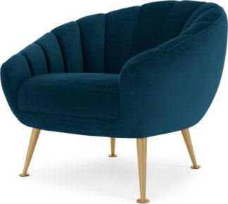 An Image of Primrose Accent Armchair, Petrol Teal Velvet