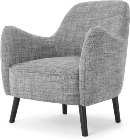 An Image of Davis Accent Armchair, Knight Weave Grey