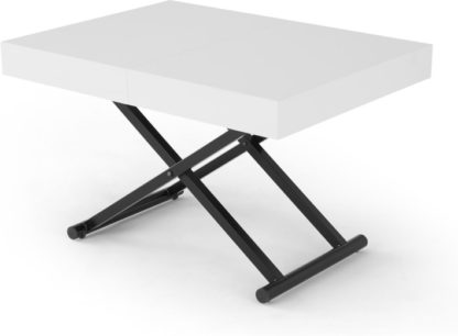 An Image of MADE Essentials Rhys Dining Into Coffee Table, White