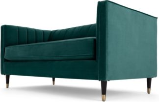 An Image of Evadine 2 Seater Sofa, Seafoam Blue Velvet