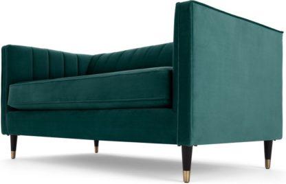An Image of Evadine 2 Seater Sofa, Seafoam Blue Velvet