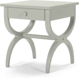 An Image of Leila Bedside Table, Grey