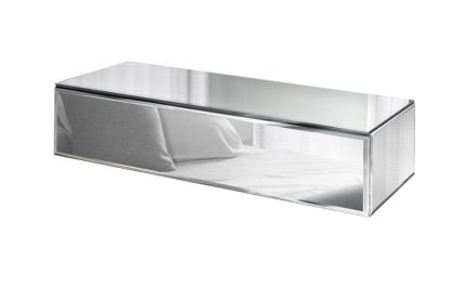 An Image of Inga Mirrored Floating Console Table / Storage System