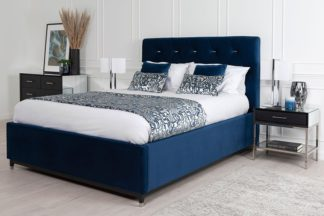 An Image of Bonn Storage Bed Royal Blue