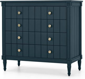 An Image of Bourbon Vintage Chest Of Drawers, Dark Blue