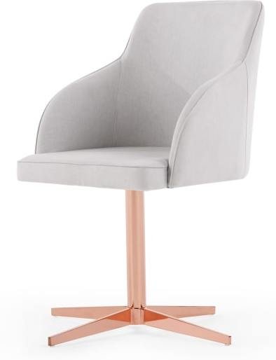 An Image of Keira Office Chair, Cloud Grey and Copper
