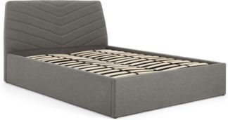 An Image of Lex Kingsize Bed with Storage, Marl Grey