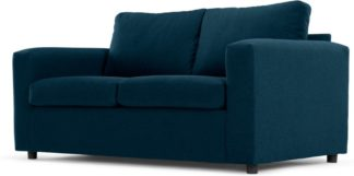 An Image of MADE Essentials Felix 2 Seater Sofa Bed with Foam Mattress, Shetland Blue