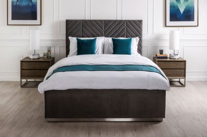 An Image of Polter Storage Bed Steel Grey