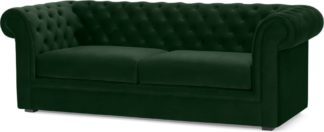 An Image of Beacon 3 Seater Sofa, Pine Green Velvet