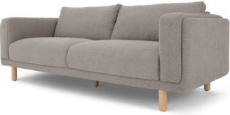 An Image of Karson 3 Seater Sofa, Mina Grey