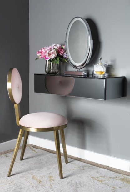 An Image of Inga Smoke Mirror Floating Console Table / Storage System