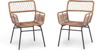 An Image of Lyra Garden Dining Chair Set, Charcoal Grey