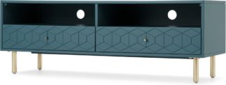 An Image of Hedra Media Unit, Teal and Brass