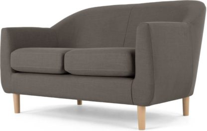 An Image of Tubby 2 Seater Sofa, Pewter Grey