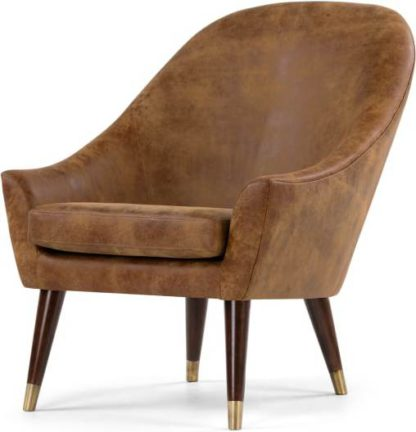 An Image of Seattle Armchair, Outback Tan Premium Leather