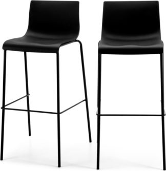 An Image of Set of 2 Piloti Barstools, Black