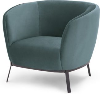 An Image of Belle Accent Armchair, Marine Green Velvet