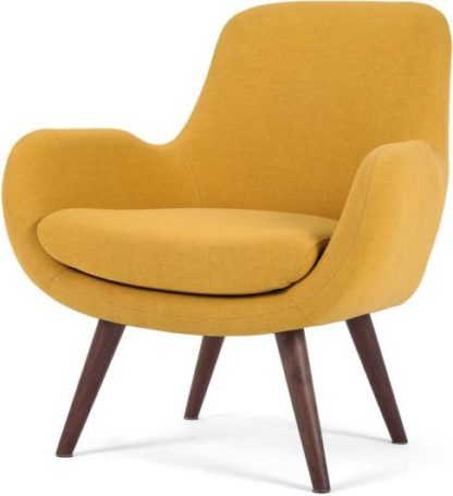 An Image of Moby Accent Armchair, Yolk Yellow