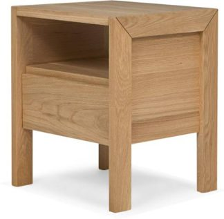 An Image of Ledger bedside table, oak