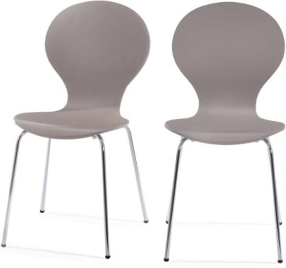 An Image of Set of 2 Kitsch Dining Chairs, Willow Grey