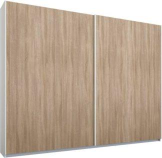 An Image of Malix 2 door 225cm Sliding Wardrobe, White frame,Oak doors , Premium Interior