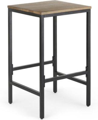 An Image of Lomond Bar Stool, Mango wood and Black
