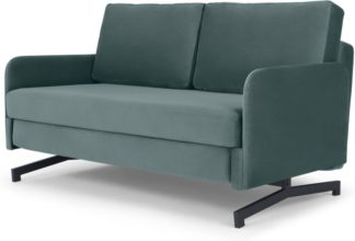 An Image of Motti Sofa Bed, Marine Green Velvet