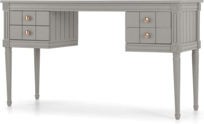 An Image of Bourbon Vintage Desk, Copper and Grey