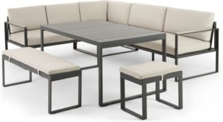 An Image of Catania Garden Corner Dining Set, Polywood