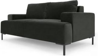 An Image of Frederik 2 Seater Sofa, Dark Anthracite Velvet