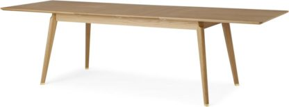 An Image of Albers Extending 6-12 Seat Dining Table, Oak