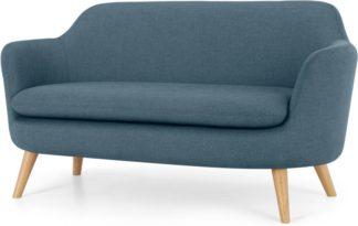 An Image of Nya 2 Seater Sofa, Duke Blue Weave