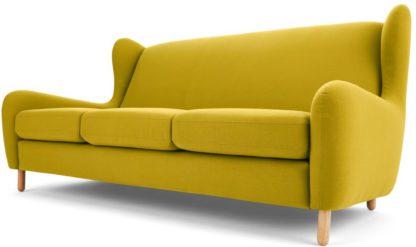 An Image of Rubens 3 Seater Sofa, Light Moss Green