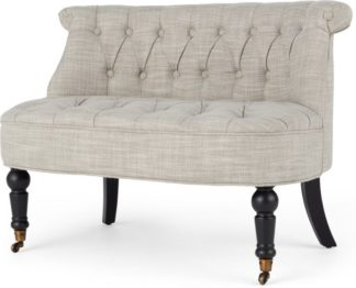An Image of Bouji Love Seat, Taupe Linen Mix