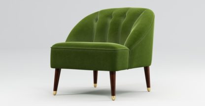 An Image of Custom MADE Margot Accent Chair, Spruce Green Cotton Velvet