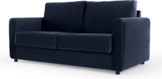 An Image of Corin Pull Out Sofa Bed, Regal Blue Velvet