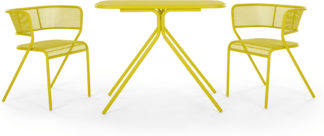 An Image of MADE Essentials Tice Compact Bistro Set, Chartreuse